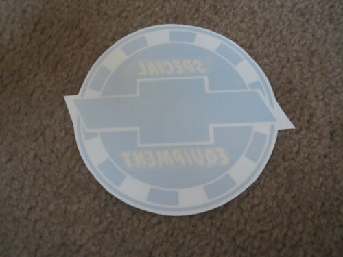 CHEVROLET SPECIAL EQUIPMENT PARTS  6 INCH ROUND DECAL STICKER NEW