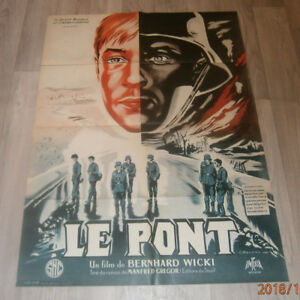 A1-Filmplakat   LE PONT  DIE BRÜCKE   BERNHARD  WICKI.FRITZ WEBBER