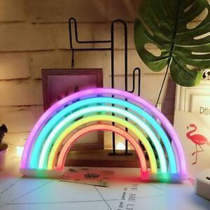 Blue Flashing Creative Neon Sign Light Kids Room Night Lamp Mural Decor Gifts