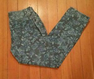 J-Jill-Jeans-Womens-Size-6-Authentic-Fit-Slim-Ankle-Floral-Pattern-Light-Wash