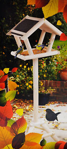 Casetta con supporto 105 cm XXL mangime casa mangime per uccelli in legno tavolo CASETTA  </span>