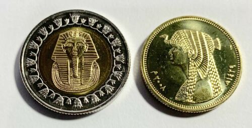2008 Egypt King Tut /& Cleopatra Uncirculated Two Coins