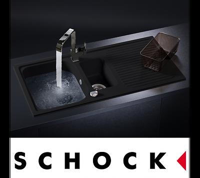 Schock Lithos D150 1 5 Bowl Onyx Black Granite Kitchen Sink