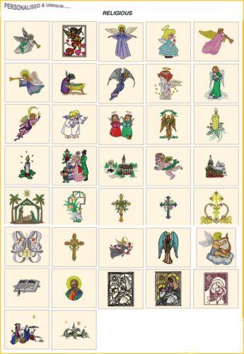 Religiosos de Navidad tarjeta Jef De Archivos Para Janome 300e máquina Embroidery Designs