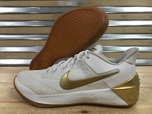 63d2f143880 Nike Kobe A.D. Big Stage Basketball Shoes White Metallic Gold SZ ...