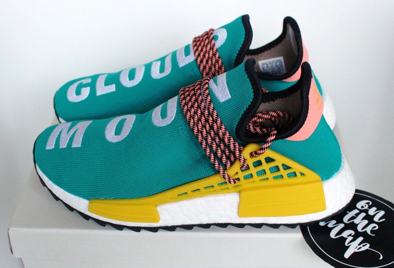Adidas Pharrell raza humana Hu NMD Glow Trail Teal Verde Sun Glow NMD 5 7 8 11 10 12 nuevo 64d719