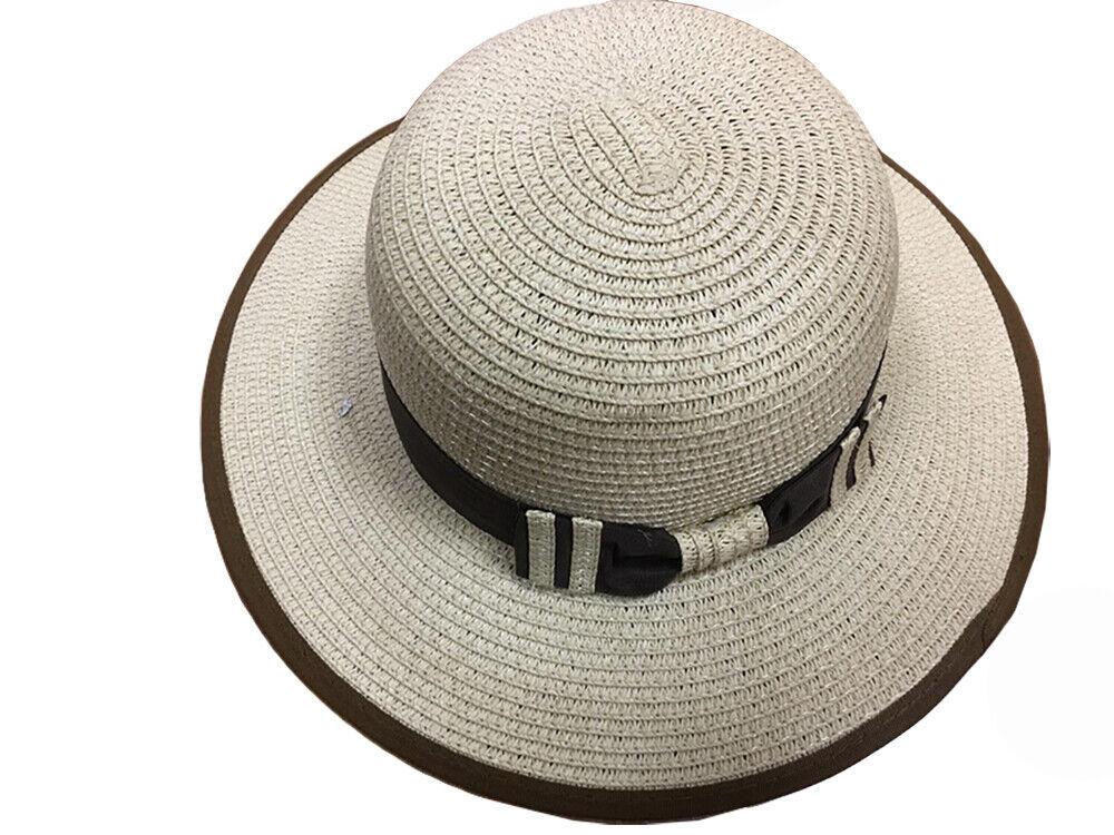 Thomas Calvi Mujer Ala Sombrero,Verano Paja Sombrero de Sol,Floppy Playa