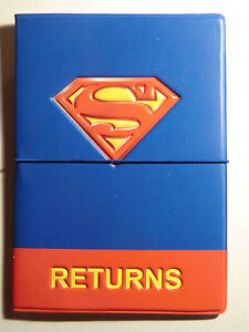 Superman Superhero Passport Holder PU Leather Cover Travel Wallet ID Cards