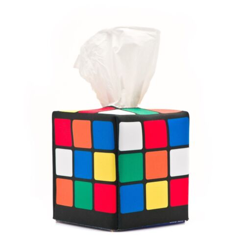 Rubik's Cube Tissue Box Cover, as seen on the Big Bang Theory