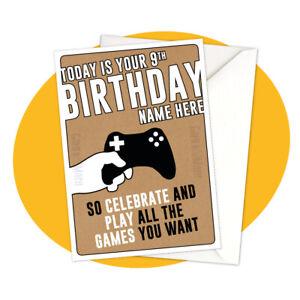 GAMER PERSONALISED BIRTHDAY CARD - personalized gaming gamer special gamermash