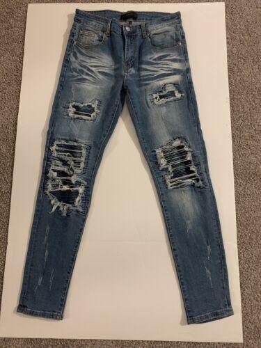 AMIRI mens Denim Jeans (MOTO X1) Destructed/repair