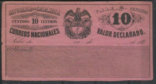 COLOMBIA VALOR DECLARADO MICHEL 19 UNUSED MNH
