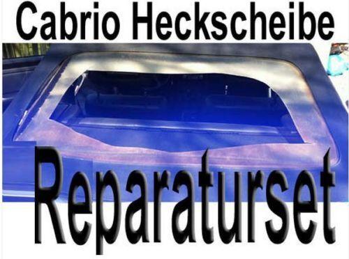 Verdeck Reparatur Cabrio Heckscheibe Einbauset Nähahle Sattler Kleber Nähen NEU