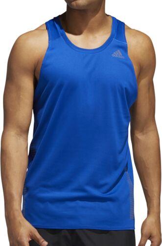 Adidas Rise Up n Run Mens Running Débardeur-Bleu