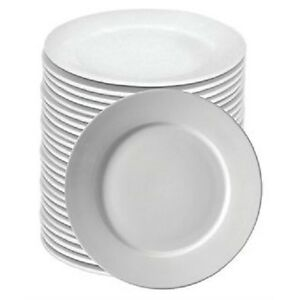 Image is loading BULK-BUY-DEAL-BOX-72-WIDE-RIM-WHITE-  sc 1 st  eBay & BULK BUY DEAL - BOX 72 WIDE RIM WHITE HOTELWARE CATERING PLATES 10 ...