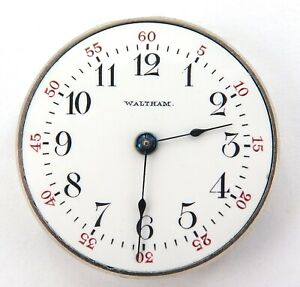 GREAT-DIAL-1904-WALTHAM-SAPPHIRE-6-0S-13J-TINY-POCKET-WATCH-MOVEMENT-amp-DIAL