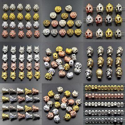 Zircon Micro Pave Bouddha Tête connecteur 12x16mm Charm Spacer Beads Bracelet