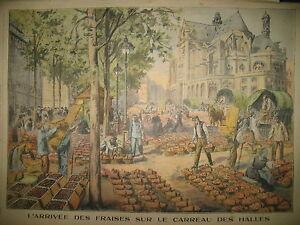 BAL-DU-14-JUILLET-A-PARIS-CARREAU-DES-HALLES-LES-FRAISES-LE-PETIT-PARISIEN-1908