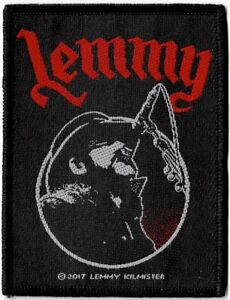 Official-Merch-Woven-Sew-on-PATCH-Metal-Rock-Motorhead-LEMMY-Microphone