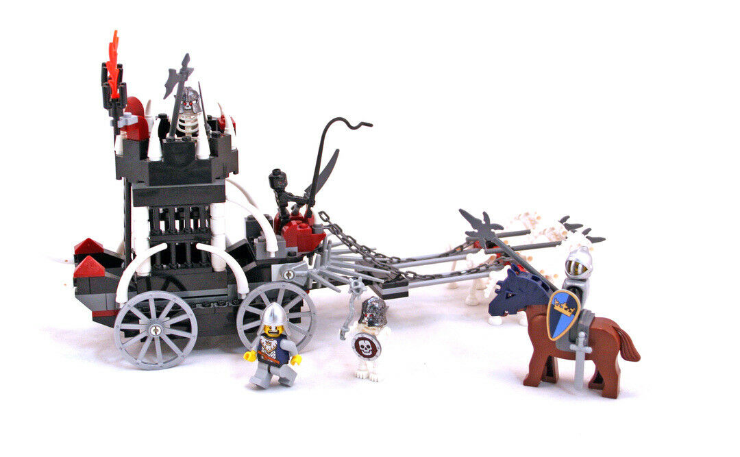 Lego Castle Fantasy Era Set 7092-1 Skeletons' Prison Carriage 100% complete