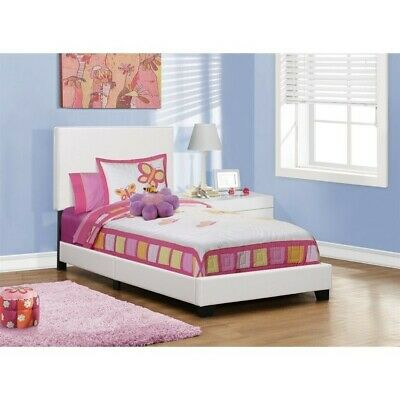 Monarch Leather Upholstered Twin Bed In