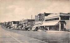 MANCHESTER, CT ~ WOOLWORTH'S 5 & 10 DEPARTMENT STORE & AUTOS ~ dated 1945