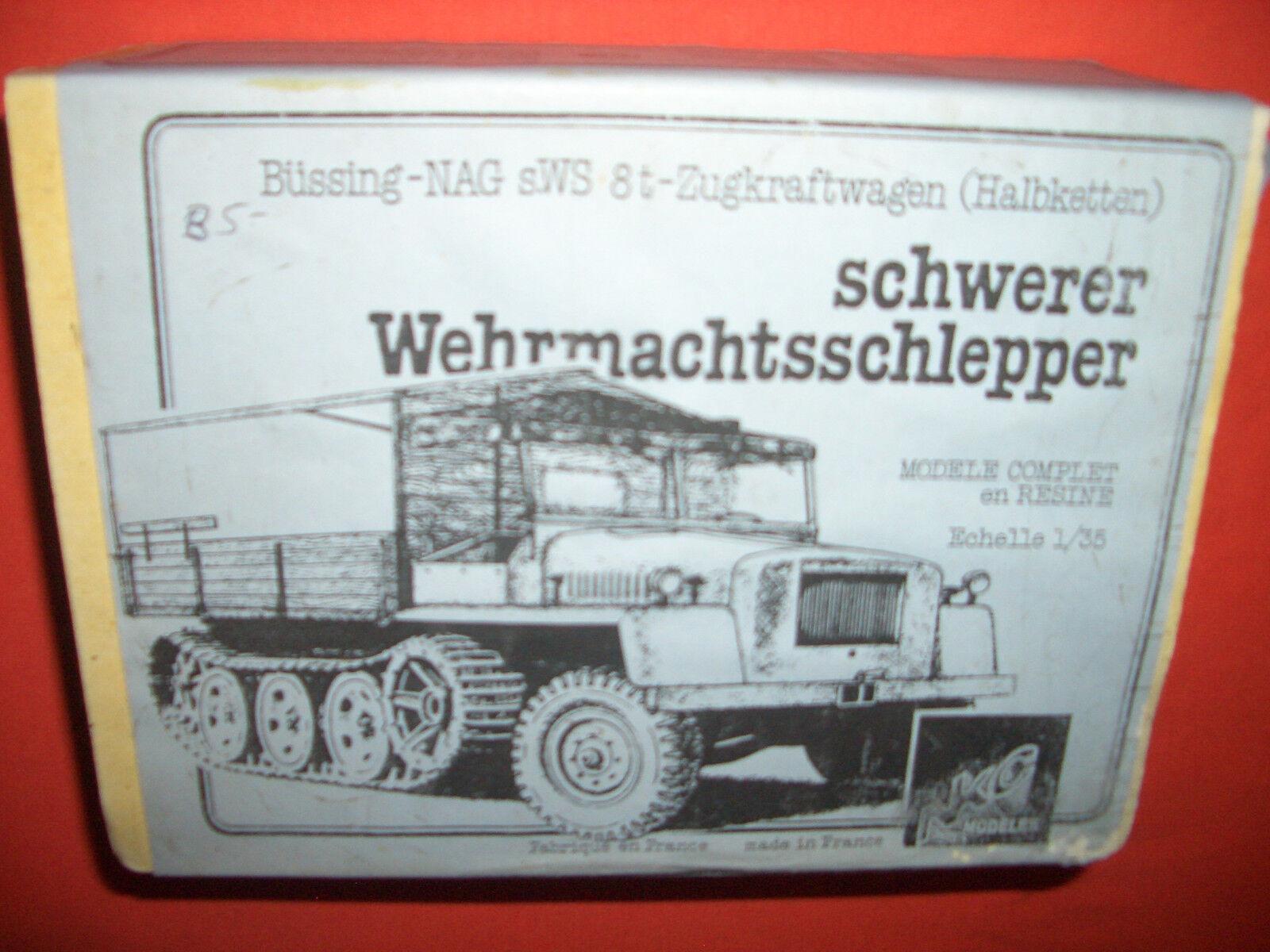 1 35 NKC Models 163590, Schwerer WEHRMACHTSSCHLEPPER Büssing NAG sWS 8t