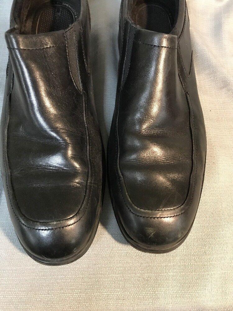 Mens Shoes ROCKPORT Sz 9 Black Leather Slip Ons Shoes Mens dda761