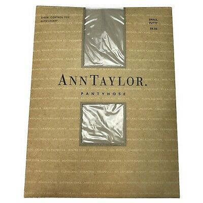 NIP Ann Taylor Small Putty Sheer Control Top Pantyhose with LYCRA Pantyhose NOS