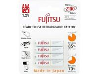 4-Pack Fujitsu HR-4UTCEX(4B) AAA Ni-MH Pre-Charged Rechargeable Batteries