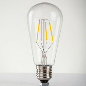 ST64-E26-E27-40-W-220-V-250-V-Edison-Ampoule-Halogene-jaune-chaud-Lumieres-Vis-Support