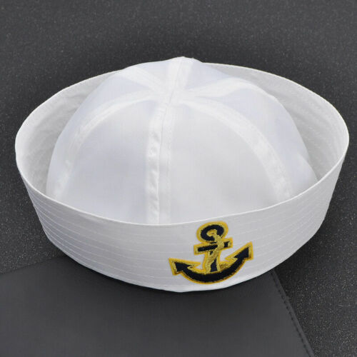 Sailor Chef Nurse Cap Hat Performing Costume Party Cosplay Anchor Embroidery