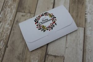 Personalised-Christmas-Favour-Scratchcard-holders-Tags-Card-Gingerbread-wreath