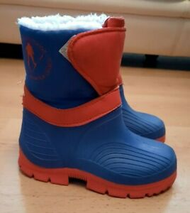 Boys-Snow-Winter-Ski-Boots-Blue-Size-UK-7-7-5-Very-Good-Condition