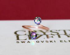 Rose Gold Plated Toe Ring with Paradise Shine Swarovski Crystal Elements