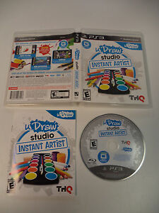 Ps3 udraw game tablet with udraw studio instant artist with a ps3.
