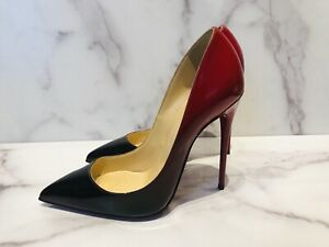 Red Patent Leather Ombre Heels Shoes