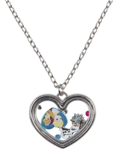Disney Frozen Elsa Anna Olaf  Shaker Heart Pendant Necklace Best Friends BFF NWT