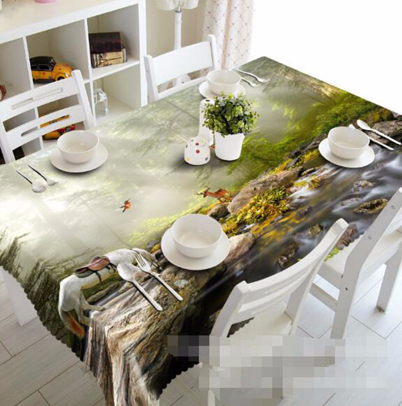 3D Cheval Hills Nappe Table Cover Cloth fête d'anniversaire AJ papier peint Royaume-Uni Citron