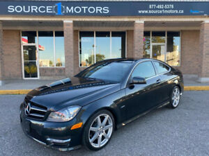 2012 Mercedes-Benz C-Class 2dr Cpe C350 4MATIC| Sunroof | Leather | Heated Seat