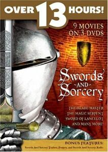DVD-Sword-and-Sorcery-Collection-9-movies-on-3-DVDs-PAL-R-All