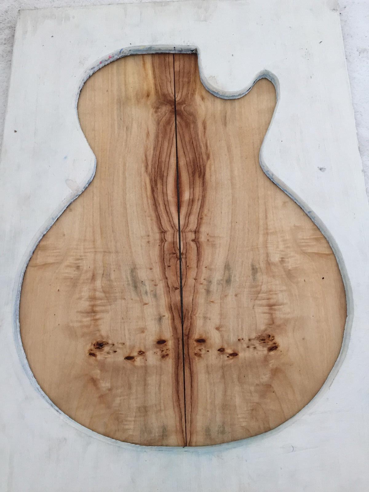 Poplar Burl Guitar Bookmatch Set Musical Luthier tone wood .31 x 15 x 20