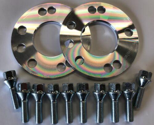 Pernos M12X1.25 Citroen 5X108 2 X 5 mm centrado en Aleación Espaciador De Rueda HUB 65.1