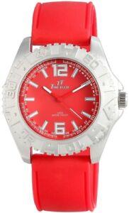 Time-Tech-Herrenuhr-Rot-Silber-Analog-Metall-Silikon-Armbanduhr-X227425000020