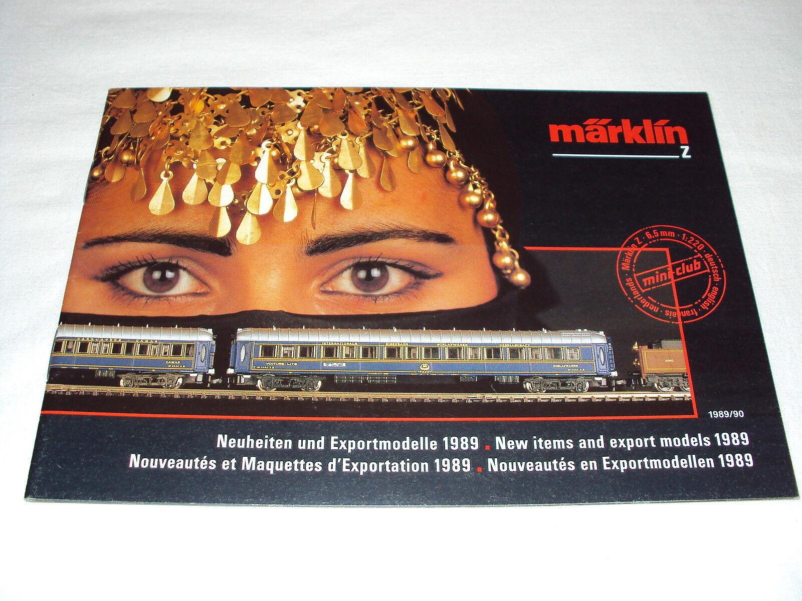 W 3 13 1 Modelleisenbahn Modelle Katalog Prospekt Märklin Export-Modelle 1989