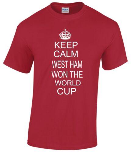 Keep Calm West Ham Vinse il World Cup T-shirt kids