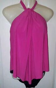 776aec4a66491 New Women's Venus Flounce Hot Pink High Neck One Piece 14 Swimwear ...