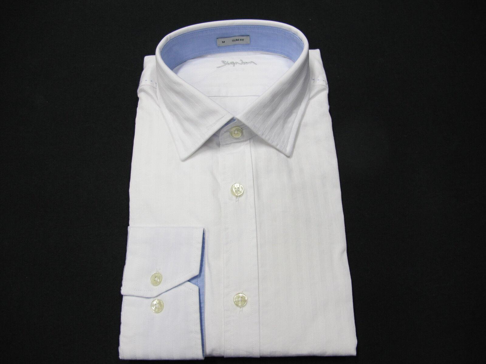 Signum Hemden Langarm Gr. M, L, XL, weiß uni