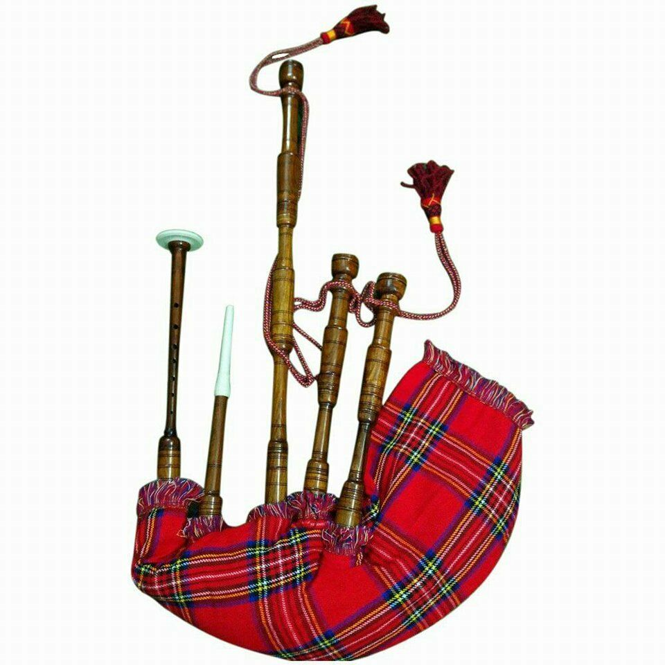 HM HIGHLAND BAGPIPES NATURAL ROSEWOOD PLAY ABLE/ROSE WOOD BAGPIPES FULL SIZE