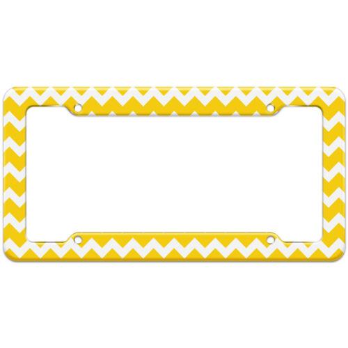 Chevrons Yellow Pattern License Plate Frame